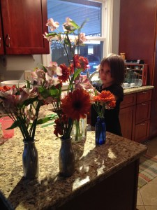 A lesson in flowers and making bouquets